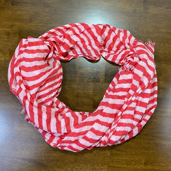 Nicole Marciano Red/White Striped Candycane Scarf